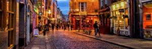 rue typique de Dublin en Irlande