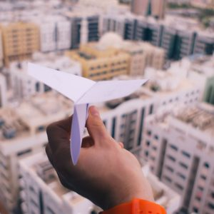 Launch-paperplane-city